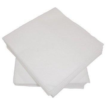 Serviettes en papier blanches à sensation lin Airlaid, 100 pièces, 40 x 40 cm - 2 lot de 50