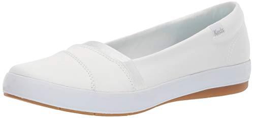 Keds Women s Carmel Twill Sneaker  White  7
