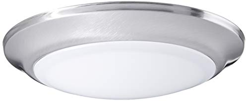 Westinghouse Lighting 6323100 Large LED Indoor/Outdoor Dimmable Surface Mount Wet Location, Brushed Nickel Finish with Frosted Lens