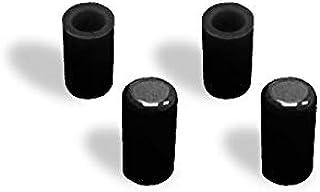 TOYOKING ハイテク シリコン キャップ 内径Φ4mm 4個1セット 黒色 ロゴマーク無し