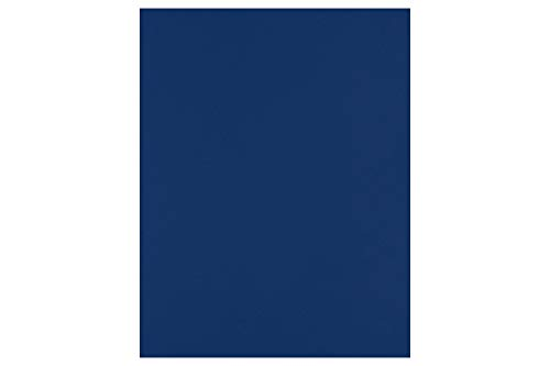 LUXPaper 8.5 x 11 Cardstock for Crafts and Cards in 100 lb. Navy, Scrapbook Supplies, 50 Pack (Blue)