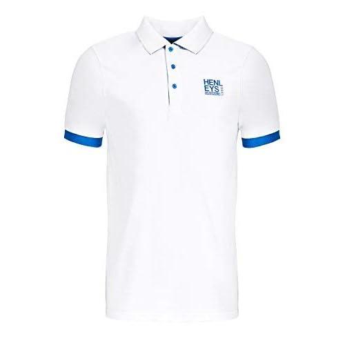 Henleys Mens Designer Polo Shirt Casual Collared Pique Top Short Sleeved T  Shirt 4cae63c9e