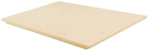 Vetrineinrete® Spianatoia in Legno per impastare stendere Tavola Multistrato con Bordo Antiscivolo Tagliere Pasta Pizza Cucina Varie Misure 9038 P44 (60x80cm)