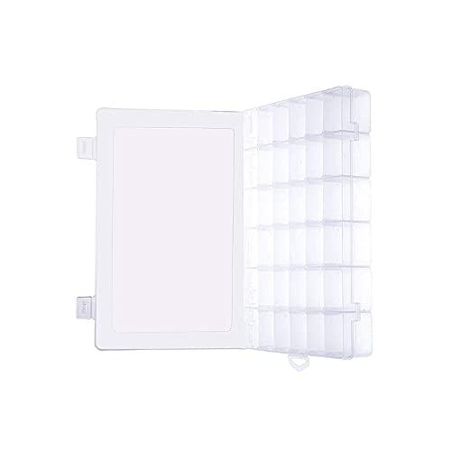 Transparente Kunststoff-Schmuckschatulle, Organizer, Aufbewahrungsbehälter mit herausnehmbarem