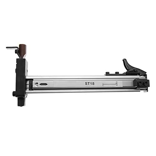 E E-NICES Miduring Herramientas ST18 Aleación de aluminio Manual Pistola de uñas Nailer Nailer Stapler Muebles Sofá Sofá Arma de la imagen para 10-18 mm Uñas