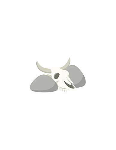 Sticker farwest : crâne de vache - Format : 35 x 23 cm