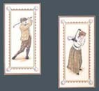 Elsa Williams Golfing Partners Counted Cross Stitch Kit 8' X 16' ea. (Arnie Fisk)