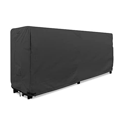 KHOMO GEAR - Cubierta para estante de troncos de servicio pesado - 8' - Serie Panther - Negro