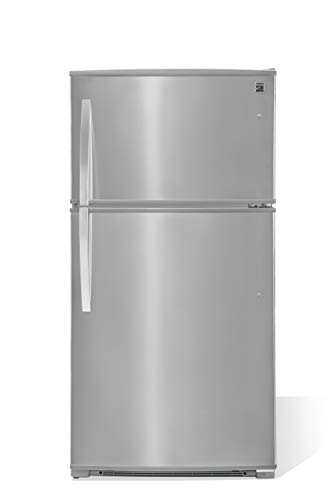 Kenmore Top-Freezer Refrigerator with LED Lighting and 20.8 Cubic Ft. Total Capacity, Stainless Steel