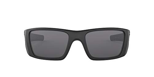 Oakley Men's OO9096 Fuel Cell Rectangular Sunglasses, SI Matte Black/Grey, 60 mm