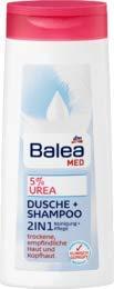 Balea Med Duschgel 5% Urea 2in1 Dusche + Shampoo, 1 x 300 ml