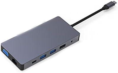 Multi Port 3 Port USB Adapter HDMI 4K VGA RJ45 Adapter to Splitter HUB USB-C Type C for USB hub Laptop Docking Station