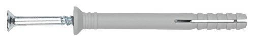 INDEX Fixing Systems VTCCA06050 [TC-CA] clavable de poliamida 6.6, premontado con tornillo rosca-arpón. Taco con cabeza avellanada (6 x 50 Ø6), 30 Piezas, 6 x 50 mm, diámetro de 6 mm