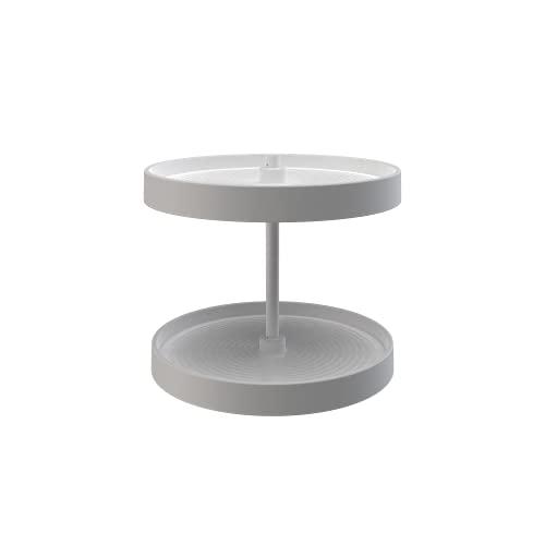 Rev-A-Shelf - LD-2062-18BM-11-1 - 18 in. White Polymer Full Circle Bottom Mount 2-Shelf Lazy Susan Set