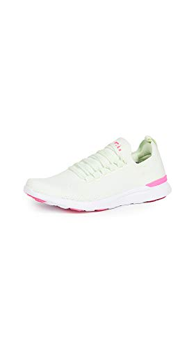 APL: Athletic Propulsion Labs Women's Techloom Breeze Sneakers, Zest/Fusion Pink/White, 8.5 Medium US