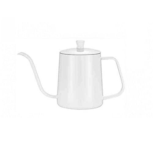 YanyanDz 350 ml blanco goteo hervidor de café té olla antiadherente de acero inoxidable de grado alimenticio cuello de cisne Cisne cuello boca delgada