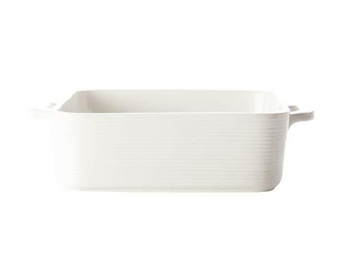 Casa Domani P470016 Casual Plat à Four Carré Blanc Evolve Porcelaine