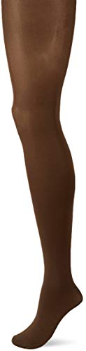FALKE Damen Strumpfhosen Seidenglatt 40 Denier - Semi-Blickdicht, Leicht Glänzend, 1 Stück, Braun (Coffee 5309), Größe: L