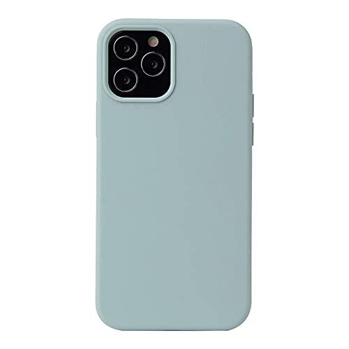 ESONG Funda para Xiaomi Mi 11 Ultra, Protección de la Pantalla y la Cámara, Carcasa Silicona Líquida Funda Protectora Fina Parachoques Prueba de Golpes Suave Caso para Xiaomi Mi 11 Ultra-Azul Cian