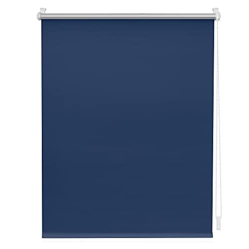 Lichtblick RKV.090.150.09 Thermo-Rollo Klemmfix, ohne Bohren, Verdunkelung Blau, 90 cm x 150 cm (B x L)