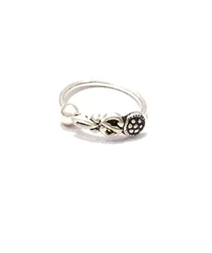 Urbiana Unisex 925 Sterling Silver Ethnic Nose Ring for Septum or Nose