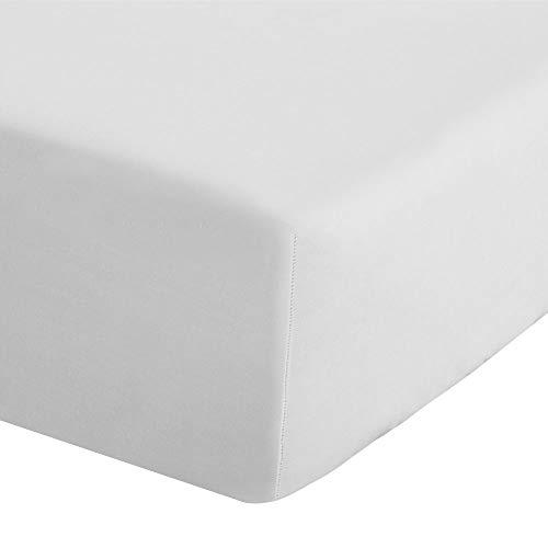 Catherine Lansfield Spannbetttuch, bügelleicht, Perkal, für Doppelbett, extra tief, Weiß