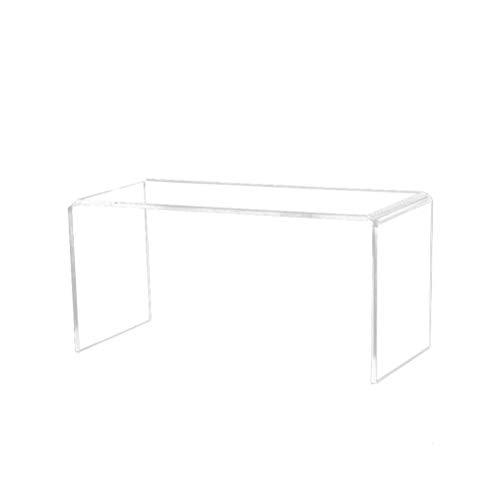 UPKOCH 3 piezas acrílico expositor transparente Display Riser estante vitrina para Cupcake Dessert joyas muñeca juguetes figuras talla S M L