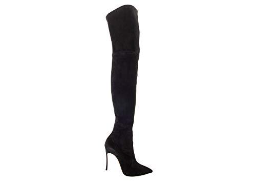 Casadei Damen Stiefel High Heels schwarz, Schwarz - Schwarz - Größe: 39 EU