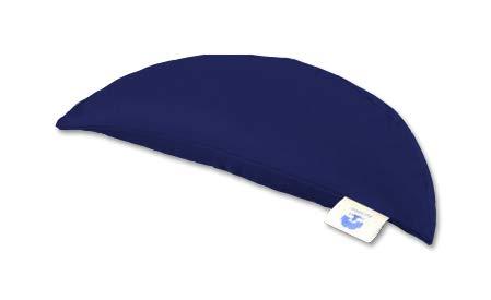 Blue Banyan Meditation Cushion - Travel Crescent Moon Zafu Cushion (Buckwheat) Dark Blue