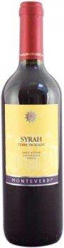Syrah Sicilia Monteverdi original sizilianischer Rotwein (0,75l Flasche)