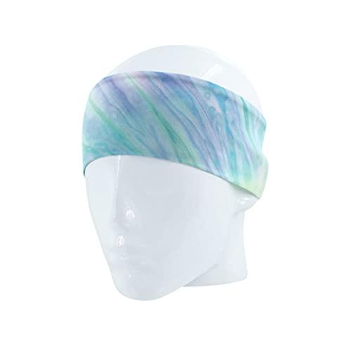 ZYYXB Diadema de algodón para yoga, banda deportiva para el sudor, para mujeres, hombres, entrenamiento, banda elástica para el sudor, antideslizante, banda para la cabeza, para bailar, colorido
