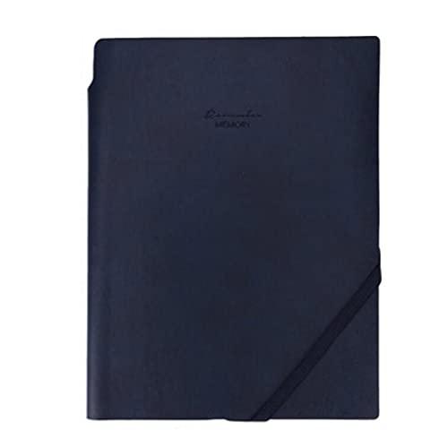 LICHUAN Notebook per Il Lavoro Nota Che Prende Il Blocco Note del Giornale con Inserto Penna PU. Diario di Cuoio con Corda (Nero, Blu) (Color : Blue)