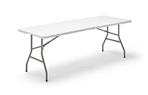 KG KitGarden Folding 200 - Mesa Plegable Multifuncional, Blanco, 200x74x74cm ✅