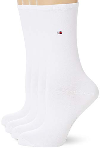 Tommy Hilfiger Womens Women's Multipack 4 Pack Casual Sock, White, 35/38