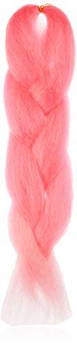 American Dream Premium Kanekelon Tresse pour cheveux Tissages, Dreads et son Style avant Garde Creative, Ombre Rose bonbon au bébé Rose