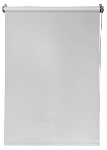 Deco4Me Seitenzugrollo 140x160 weiß verdunkelnd Verdunklungsrollo Klemmfix ohne Bohren