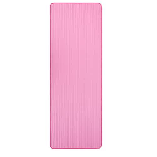 WANGCAI Esterilla de yoga con dobladillo, antideslizante, para principiantes, para el hogar, portátil, para ejercicio, (color: rosa, tamaño: 1830 x 610 x 10 mm)