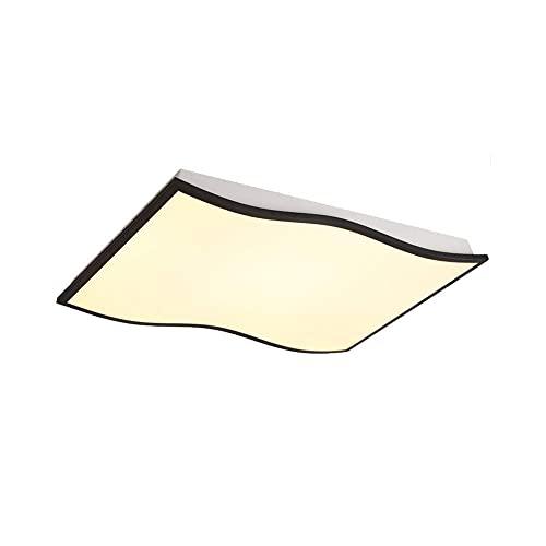 Lámpara LED de techo curvada, plafón cuadrado empotrado de metal, 36 W, regulable, creativa, lámpara de araña con intensidad de luz 20, luz blanca