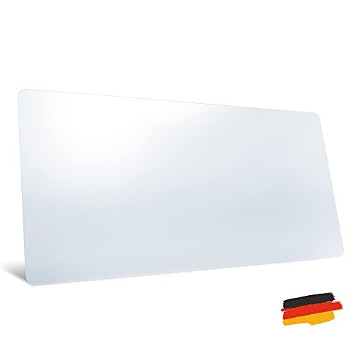 Schreibtischunterlage transparent - made in Germany Schreibunterlage groß - geruchsfrei - rutschfest - flach aufliegend - klar - durchsichtig - Bastelunterlage - Mousepad - Malunterlage Kinder 80x40