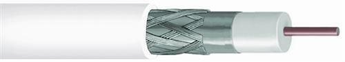 CommScope RG-6 Cable coaxial blindado, 60% Plenum, blanco, 2275V-WHT