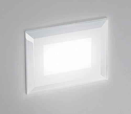 segnapasso led 3w 3000k da esterno ip65 incasso parete per cassetta 503 luce calda vetro bianco elevata qualità garanzia 5 anni