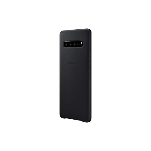 Samsung Galaxy S10 5G Schutzhülle aus Leder - Offizielle Samsung Galaxy S10 5G Hülle - Strapazierfähige Echt Leder Handyhülle für Galaxy S10 5G - Schwarz
