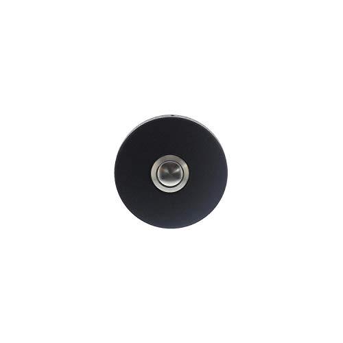 Intersteel Deurbel Rond Verdekt 53 X 10mm, Roestvast Staal, Mat Zwart