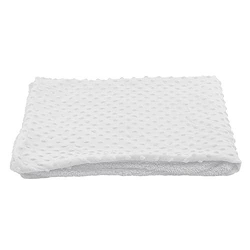 ZYYXB Manta suave para bebé, manta de forro polar, manta doble, manta suave, edredón para guardería, edredones para niños, color blanco