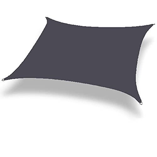 Meowstic® Sonnensegel Rechteck Sonnenschutz Garten Balkon Wetterschutz wasserabweisend Rechteckig UV-Schutz für Garten Outdoor (3x3m, Grau)