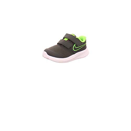 Nike Star Runner 2 (TDV), Sneaker Unisex-Bimbi 0-24, Nero (Anthracite/Electric Green/White 004), 26 EU