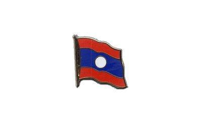 Flaggen-Pin/Anstecker Laos vergoldet