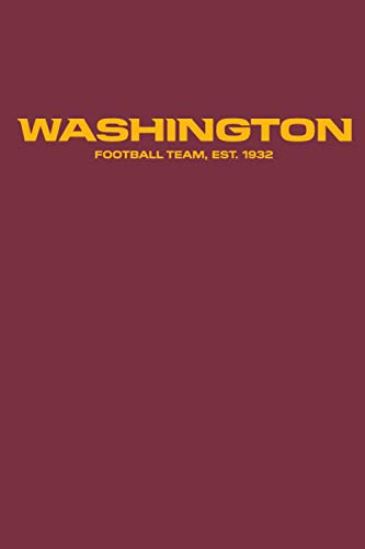 Washington Redskins Notebook: Minimalist Composition Book | 100 pages | 6