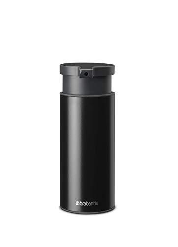 Brabantia Dispensador de jabón, Acero Inoxidable, Negro, 0.18 L