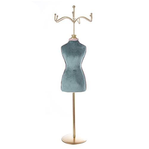 KunmniZ Doble cara Humano en forma de estante princesa vestido collar de joyería soporte señora modelo pendiente anillo ahorro de espacio decoración del hogar almacenamiento gestión accesorios
